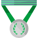 medal, winner, Champion, Sports And Competition, award Black icon