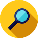 search, magnifying glass, zoom, detective, Loupe, Tools And Utensils, Edit Tools Gold icon