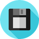 electronics, Diskette, Save File, Flash Disk, Multimedia, save, Floppy disk, interface, technology SkyBlue icon