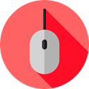 clicker, Technological, electronic, electronics, computing, computer mouse, Computer, Mouse, technology Tomato icon