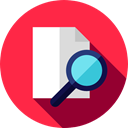 document, File, Archive, search, interface, Edit Tools Crimson icon