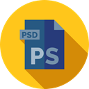 document, File, Format, Archive, Psd, Extension, Files And Folders Gold icon