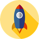 Rocket, transportation, transport, startup, Space Ship Khaki icon