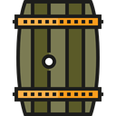Bar, Alcohol, cask, Alcoholic Drinks, Food And Restaurant, food, beer, barrel, pub Black icon
