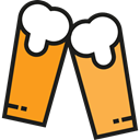Alcohol, beer, toast, pub, Alcoholic Drink, Pint Of Beer, Food And Restaurant Icon