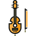 String Instrument, Music And Multimedia, music, Violin, musical instrument, Orchestra Black icon
