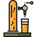 Bar, tap, beer, pub, Alcoholic Drink, Food And Restaurant Black icon