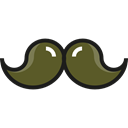 Beauty, Mustache, fashion, hair, moustache, Facial Hair Black icon