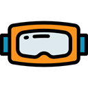 miscellaneous, goggle, sea, sports, Snorkel, Diving, Goggles, Summertime, Dive Black icon