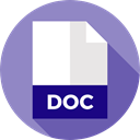 document, File, Format, Doc, Archive, Extension, Files And Folders MediumPurple icon