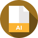 document, File, Format, Archive, Ai, Extension, Files And Folders Sienna icon