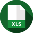 document, File, Format, Archive, Extension, xls, Files And Folders ForestGreen icon