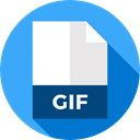 Gif, Extension, Files And Folders, document, File, Format, Archive DodgerBlue icon