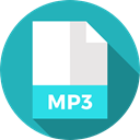 document, File, Format, Archive, mp3, Extension, Files And Folders LightSeaGreen icon