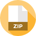 document, Zip, File, Format, Archive, Extension, Files And Folders Khaki icon