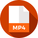 document, File, Format, Archive, Extension, Mp4, Files And Folders OrangeRed icon