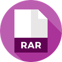 document, File, Files And Folders, Format, Archive, Rar, Extension MediumOrchid icon