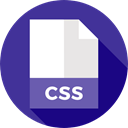 document, File, Css, Format, Archive, Extension, Files And Folders DarkSlateBlue icon