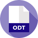 document, Extension, Files And Folders, File, Format, Archive, Odt MediumPurple icon