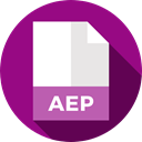document, File, Format, Archive, Extension, aep, Files And Folders DarkMagenta icon