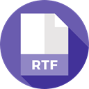 document, File, Format, Archive, Extension, Rtf, Files And Folders SlateBlue icon