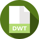 document, File, Format, Archive, Extension, dwt, Files And Folders DarkOliveGreen icon