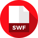 Archive, swf, Extension, Files And Folders, document, File, Format Red icon
