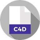 File, Format, Archive, Extension, C4d, Files And Folders, document Silver icon