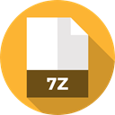 File, Format, Archive, Extension, 7z, Files And Folders, document Goldenrod icon