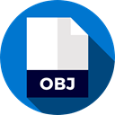 document, File, Format, Archive, Extension, obj, Files And Folders DodgerBlue icon