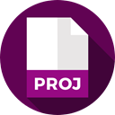 Proj, Files And Folders, File, Format, Archive, Extension, document Indigo icon