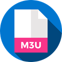 document, File, Format, Archive, Extension, M3u, Files And Folders DodgerBlue icon