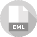 document, File, Format, Archive, Extension, Eml, Files And Folders LightGray icon