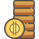 Business, Money, coin, Coins, Cash, stack, Currency, Business And Finance SandyBrown icon