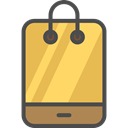 mobile phone, cellphone, smartphone, technology, online shop, online store, Commerce And Shopping SandyBrown icon