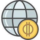Business, Money, Currency, economy, marketing, worldwide, Business And Finance DarkSlateGray icon
