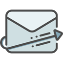 Email, envelope, Multimedia, Message, mail, envelopes, Communications, interface, mails, Mailing Gainsboro icon