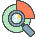 search, magnifying glass, zoom, education, research, study, Tools And Utensils, Seo And Web DarkSlateGray icon