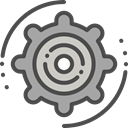 Gear, settings, configuration, cogwheel, Tools And Utensils, Seo And Web DarkSlateGray icon