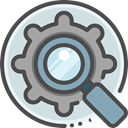 search, magnifying glass, settings, Loupe, optimization, Seo And Web DarkSlateGray icon