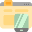 Browser, mobile phone, smartphone, online shop, Seo And Web Moccasin icon