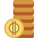 Business, Money, coin, Coins, Cash, stack, Currency, Business And Finance Peru icon