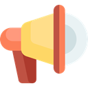 Promotion, megaphone, loudspeaker, shout, protest, announcer, Tools And Utensils, Commerce And Shopping Khaki icon