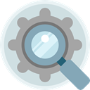 settings, Loupe, optimization, Seo And Web, search, magnifying glass DarkGray icon