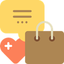 Favorite, Chat, shopping, Activity, Seo And Web Khaki icon