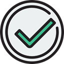 success, interface, tick, Checked, Shapes And Symbols WhiteSmoke icon