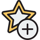 star, Add, Favorite, Favourite, interface, rate, shapes, signs, Shapes And Symbols Black icon