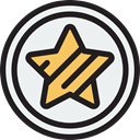star, Favorite, Favourite, interface, rate, shapes, signs, Shapes And Symbols WhiteSmoke icon