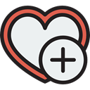 Add, Favorite, Heart, Shapes And Symbols WhiteSmoke icon