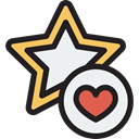 star, Favorite, Heart, Like, Shapes And Symbols Black icon
